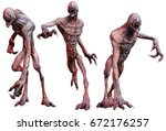 Zombie Creatures 3d Illustration
