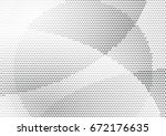 abstract halftone dotted... | Shutterstock .eps vector #672176635