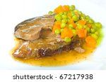 roast beef with vegetables on... | Shutterstock . vector #67217938
