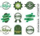 nature themed labels and badges ... | Shutterstock .eps vector #672183769