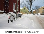 Bicycle Covered By Snow In...