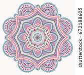 blue pink mandala isolated on... | Shutterstock .eps vector #672188605