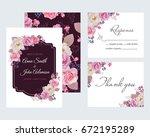 wedding floral template... | Shutterstock .eps vector #672195289