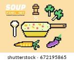 vegetable soup. pixel art....