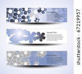 vector set of three banner...   Shutterstock .eps vector #67219957