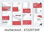 business brochure cover design... | Shutterstock .eps vector #672207349