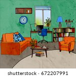 color vector illustration of... | Shutterstock .eps vector #672207991