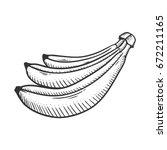 banana doodle vector... | Shutterstock .eps vector #672211165