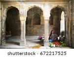 jaisalmer  india   23 february... | Shutterstock . vector #672217525