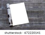 mock up magazine or catalog on...   Shutterstock . vector #672220141