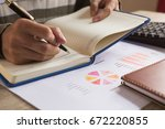 businessman check seriously... | Shutterstock . vector #672220855