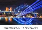 sydney harbour bridge... | Shutterstock . vector #672226294