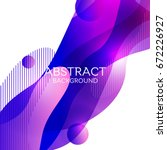 abstract 3d colorful gradient...   Shutterstock .eps vector #672226927