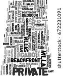 your own private paradise text... | Shutterstock .eps vector #672231091