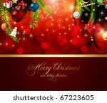 christmas background with...   Shutterstock .eps vector #67223605