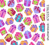 background colorful gift boxes. ... | Shutterstock .eps vector #672237811
