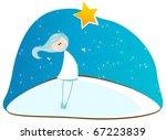 illustration of cute winter... | Shutterstock . vector #67223839