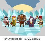role fantasy warriors and...   Shutterstock .eps vector #672238531