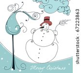 cute christmas greeting card... | Shutterstock . vector #67223863