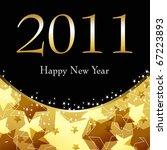 beautiful gold starry new year... | Shutterstock . vector #67223893
