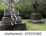 Skeleton Smoking On A Large...