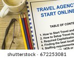 how to start a travel agency... | Shutterstock . vector #672253081