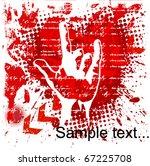 heavy metal hand background . | Shutterstock .eps vector #67225708