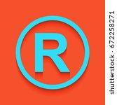 registered trademark sign.... | Shutterstock .eps vector #672258271