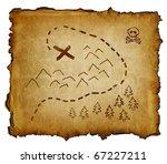 treasure map | Shutterstock . vector #67227211