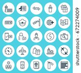 travel icons set. collection of ... | Shutterstock .eps vector #672274009
