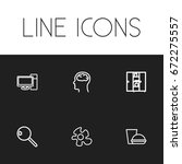 set of 6 editable science icons....