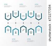 medicine outline icons set.... | Shutterstock .eps vector #672277354
