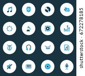 multimedia colorful icons set.... | Shutterstock .eps vector #672278185