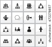 set of 16 editable cooperation...