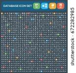 database icon set clean vector | Shutterstock .eps vector #672282985