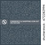 commerce and shopping icon set... | Shutterstock .eps vector #672282994