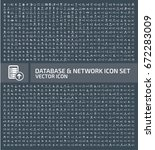 database and network icon set... | Shutterstock .eps vector #672283009
