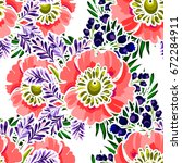 abstract elegance seamless... | Shutterstock .eps vector #672284911