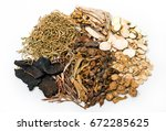 traditional chinese medicine... | Shutterstock . vector #672285625