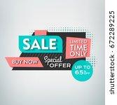 sale banner design. vector... | Shutterstock .eps vector #672289225