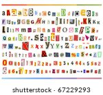 big size clipping alphabet ... | Shutterstock . vector #67229293