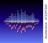 80s styled sound wave. 1980...   Shutterstock . vector #672297265