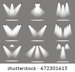 spotlight light spot stage... | Shutterstock .eps vector #672301615
