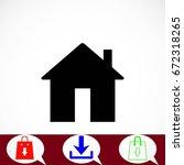 home icon vector  flat design...   Shutterstock .eps vector #672318265