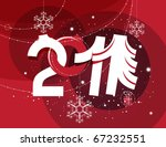 abstract christmas ornament... | Shutterstock . vector #67232551