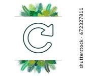 reload line icon. refresh symbol   Shutterstock .eps vector #672327811