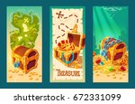 collection of isolated cartoon... | Shutterstock . vector #672331099