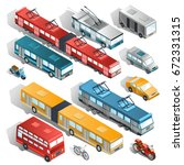 set of isometric illustrations... | Shutterstock . vector #672331315