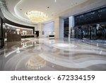 luxury lobby interior.   Shutterstock . vector #672334159