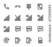 icon set of mobile | Shutterstock .eps vector #672343354